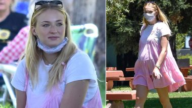 Sophie Turner's Cutesy Pink Summer Dress Is a New Addition to her Stylish Maternity Wardrobe (View Pics)